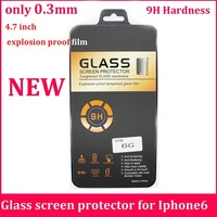 10pc/lot  ultra thin 0.3mm premium Tempered Glass screen protector for iPhone 6 6G 4.7 inch explosion proof film
