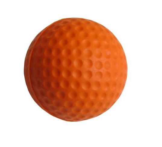 Free Shipping! 10pcs/pack Soft Indoor Practice PU Orange Golf Balls Training Aid(China (Mainland))