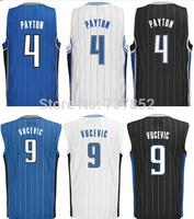 Free Shipping #4 Elfrid Payton Jersey Navy Blue White Black Stripe Mesh Embroidery Stitched #9 Nikola Vucevic Basketball Jerseys
