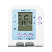 Contec08C LCD electronic sphygmomanometer New Arm Digital NIBP Sp02 Monitor memorable white