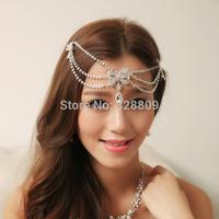 New Style Fashion crystal  frontlet chain wedding bridal diadem wedding dress rhinestone crown  jewelry