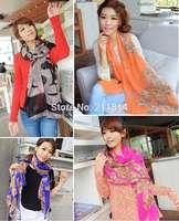 20 colors New Fashion autumn -summer ice silk Scarf women winter accessories chiffon Scarves/ cachecol feminino