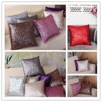 Fashion Luxurious Sequin Pillow Cushion Cover Zipper Pillow Case Home Car Sofa Throw Pillowcases Decor 7Colors BZ673634