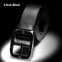 2014 New Arrival Tops Fashion Pure Leather Cowskin Mens Strap Men's White Deep/light Coffee Black Brown Belt Free shipping