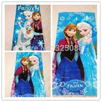 Wholesale 60*120cm Frozen Towel Cartoon Frozen Elsa & Anna Princess Bath Towel Children Beach Bath Towel Girl Best Gift