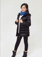 2014 Children's Fashion Down Jacket Long Sections Warm Down Kids Jacket Girl's Winter Coat & Outweat Coat