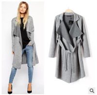 2014 Fashion New Brand Casual Warm winter jacket women Long sleeve Knitted Trench Coat cardigans vercoat Autumn
