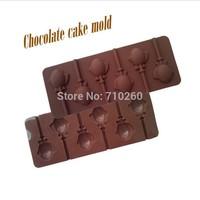 Cartoon cute 6 even fish shape lollipop silicone bakeware, ultra-soft,  DIY handmade molds, chocolate mold