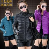 HOT SALE Women's Autumn Winter Fashion Slim Fit Large Size Pure Color Thin Eiderdown Cotton Coats Down & Parkas,Free Shipping