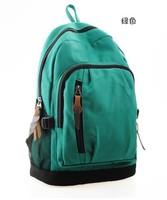 Christmas Gift Lovely Girls Navy Style Striated Canvas Backpack Shoulder Bag Rucksack School Satchel Travel Hiking Bags