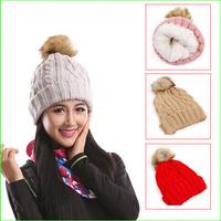 FSH02 Best quality Women Outdoor knitted hat winter ski hat skull cap