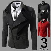 2014 New.British style  mens turn down collar zipper  jackets coat  men   M-XXL