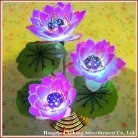 Free shipping new design fibre flower lotus