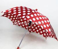 Free Shipping Round dot umbrella red --Magic Trick, Fun Magic, Party Magic.