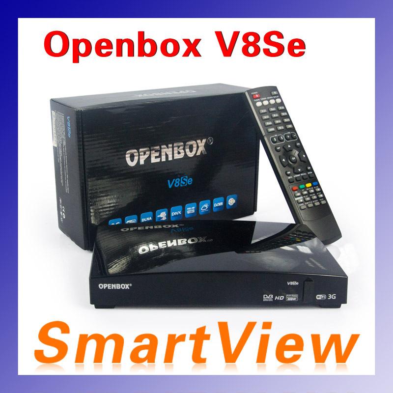 1pc Original Openbox V8Se Satellite Receiver AV output Support USB Wifi WEB TV Biss Key 2xUSB Youporn CCCAMD same as S-V8 V8S(China (Mainland))