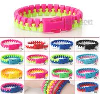 Free shipping 20#  double color zipper bracelets environmental protection kid bracelet  Hot sale zipper jewelry wholesale