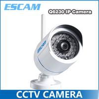 2014 ESCAM Q6320WIFI ONVIF H.264 1 Mega 720P HD WIFI Mini Waterproof IR Bullet IP Camera P2P PNP Support Smart Phone View