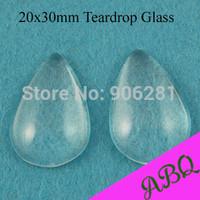 20x30mm Teardrop Glass Cabochon, Clear Glass Cap Cover, Teardrop Glass Domes