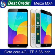 In Stock!Original Meizu MX4 4G LTE Mobile Phone MTK6595 Octa core 5.36″ 1920×1152 2GB RAM 16GB ROM 20MP Camera 3100mAh/Kate