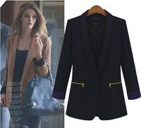 Women Blazer European&American Small business suits Blazer Women Feminino Plus Size Slim long-sleeved blaiser feminino S,M,L,XL