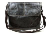 Free Shipping Soft Leather Men's Messenger CrossBody Bag Fashion Casual Genuine Leather Laptop Briefcase School Shoulder handbag