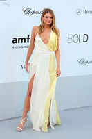 2015 Sexy A-line Spaghetti Straps Split Floor Length lily_donaldson Sequins Beading Celebrity Dresses Evening Prom Party