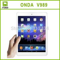 9.7inch Onda v989 Allwinner A80T Octa Core Tablet PC Cortex A15 Air Retina 2048*1536 64 Core GPU 2GB/32GB Android 4.4 OS 8.0MP