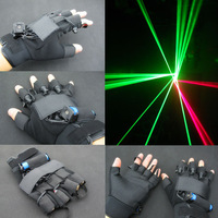Green Laser Gloves With 4pcs 532nm 100mW Laser ,Stage Gloves For DJ Club/Party Show