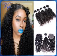 Deep Wave Malaysian Virgin Hair Ms lula Malaysian Human Hair bundles with closure Unprocessed Malaysian Kinky Curly Hair Weave