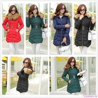 New 2014 Fashion Brand Long Winter Coat Women Duck Down Jacket Female Parka Hoodies Army Green Black Women's Outwear co1083