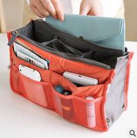 100pcs Multifunction Make up Organizer bag Women Cosmetic bags Dual Inner Bag IN Bag Ourdoor Travel Bag Handbag Strorage Cases