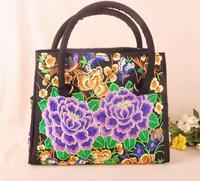 Free shipping The new export embroidered ethnic style fashion handbags bag Messenger bag leisure bag handbag lady design 94048