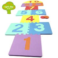 Week eight child digital springboard game pad eco-friendly eva foam patchwork floor mats jump house 30