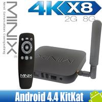 New Minix Neo X8 2K4K Android Smart TV Box Quad Core Amlogic S802 2G 8G XBMC Receiver media player Kitkat 4.4 Mini PC