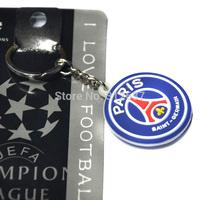Free shipping high juventus psg PVC keychains paris saint-germain football souvenir
