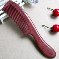 Natural luyuan Violet ebony comb anti-static with handle birthday wedding gifts gift-package