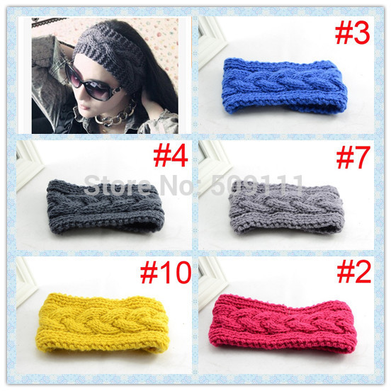 Womens headband pattern Women crochet headband Knitted pattern winter earwarmer 20pcs WH060(China (Mainland))