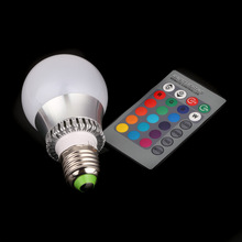 3W ac85-265v 16 colors changing rgb led lamp with IR Remote Control Indoor Lighting Wall Lamps (China (Mainland))