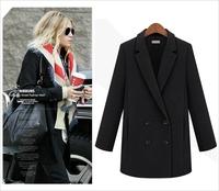 2014 Winter Coat Women Long Section Of Woolen Coat Solid Plus Size Casacos Femininos Outwear Abrigos Mujer S M L XL