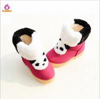 Retail 1 pcs 2014 New Winter Child Warm Girls Boys Boots Fashion Snow Boots Children Panda Shoes Kids 3 Colors AB448