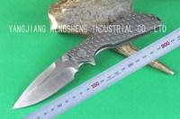 Microtech DOC TC4 titanium alloy handle D2 Blade Pocket Folding High-Grade knife For Christmas Gift