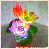 Light decoration fibre flower lotus