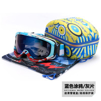 Free shipping Double Layer Large lens Snow Goggle Spectacal 100% UV Protection Anti Fog Ski Goggles Snowboard Goggles with box