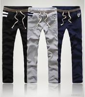 2014 Top Quality Men's Cotton Casual Sport Pants Fashion Design Male Trousers M-XXXL Thermal Long Men Black Pants