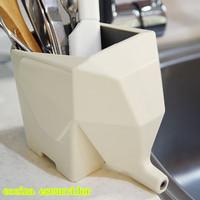 Multi-function Elephant Shape Desktop Storage Box Flowerpot Ware Drainer Home Decoration Dish Holder Rack Kitchen Tool DP870792
