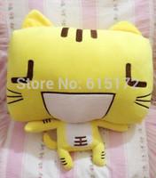 1pc FREE SHIPPING 40cm Sale Novelty Item Smiley Creative Kawaii Cute High Quality Yellow Cat Plush Toy Soft Doll Stuffed Animal