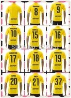 New Fashion Dortmund Kehl Reus Mkhitaryan Aubameyang Soccer Jersey 14/15 Gundogan Yellow 3RD away Ji Kagawa Uniforms Kit Jerseys