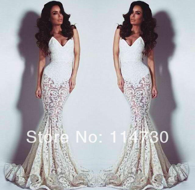 Custom Made Mermaid Sweetheart Lace Sexy Celebrity Designer Wedding Dresses Bridal Wear Wholesale Price Free Shipping(China (Mainland))