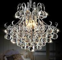 Free shipping 2015 Europe crystal pendant lights bedroom lamp living room droplight