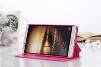 New Arrival Luxury PU Leather Flip Case for Huawei Ascend Mate 7 Stand Phone Cover For Mate7 View Window Design Stand Function